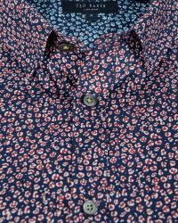 Ted Baker - Blue Leojak Print Button Down Shirt - Regular Fit for Men - Lyst
