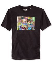 LRG - Black Mash-Up T-Shirt for Men - Lyst