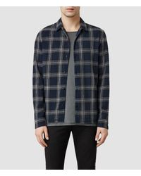 AllSaints | Black Claymore Shirt for Men | Lyst