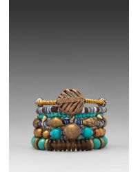 Vanessa Mooney | Blue Misty Mountain Bracelet Stack in Turquoise | Lyst