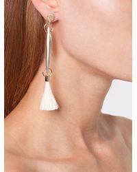Chloé - Metallic Tassel Earrings - Lyst