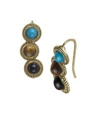 Sam Edelman | Metallic Cabochon Crawler Earrings | Lyst