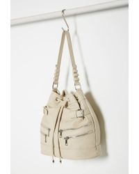 Forever 21 - Natural Zippered Bucket Shoulder Bag - Lyst