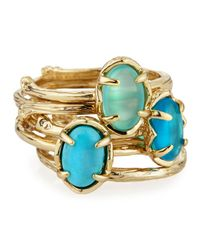 Kendra Scott | Metallic Stormy Turquoise Stackable Ring Size 7 | Lyst