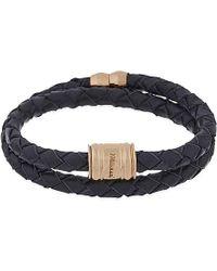Miansai - Black Casing Leather Double Wrap Bracelet for Men - Lyst