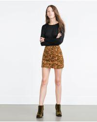 Zara | Black Oversize Top | Lyst