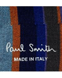 Paul Smith | Blue Striped Cotton-Blend Loafer Socks for Men | Lyst