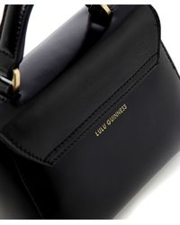 Lulu Guinness   Black Polished Leather Mini Izzy Bag   Lyst
