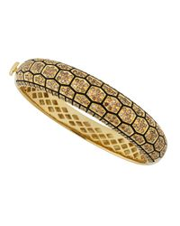 Roberto Coin | Metallic 18k Yellow Gold Tortoise Diamond Bracelet | Lyst
