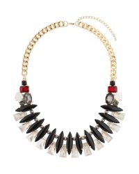 Mikey | Metallic Eclipsce Crystals Linked Design Choker | Lyst
