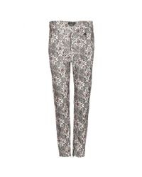 Isabel Marant Natural Mayeul Printed Cotton Trousers