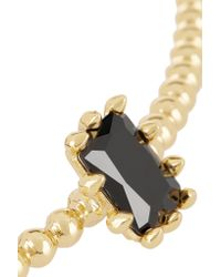 Eddie Borgo - Metallic Dome Estate Gold-plated, Crystal And Leather Necklace - Lyst