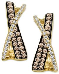 Le Vian - Metallic Chocolatier® Diamond X-earrings (1 Ct. T.w.) In 14k Gold - Lyst