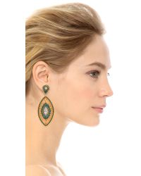 Miguel Ases | Caroline Earrings - Blue Multi | Lyst