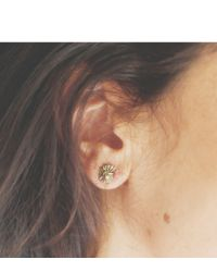 Melissa Joy Manning | Metallic Bronze Cast Ammonite Stud Earrings | Lyst