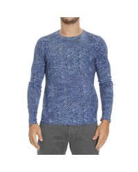 Just Cavalli | Blue Sweater for Men | Lyst