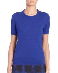 BOSS - Blue Fedore Mercerized Wool Top - Lyst