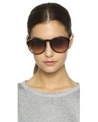 Givenchy | Black Metal Bridge Sunglasses | Lyst