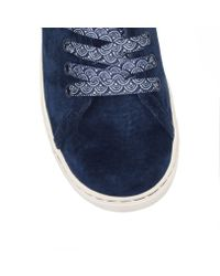 UGG - Blue Tomi Scallop Flat Low Top Trainerss - Lyst