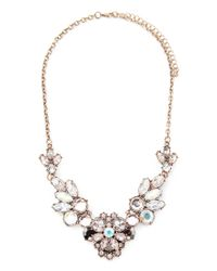 Forever 21 - Metallic Flower Statement Necklace - Lyst