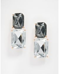 Ted Baker | Metallic Oblong Gem Earrings | Lyst