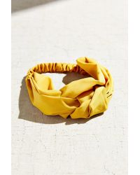 Urban Outfitters - Yellow Sienna Knotted Silk Headwrap - Lyst