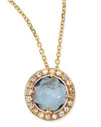 KALAN by Suzanne Kalan - Metallic 6mm Blue Topaz & White Sapphire Pendant Necklace - Lyst