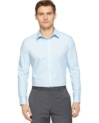 Calvin Klein | Blue Modern Fit Striped Poplin Sportshirt for Men | Lyst
