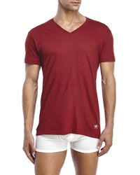 Lucky Brand - Multicolor Black Label 3-Pack V-Neck Tees for Men - Lyst
