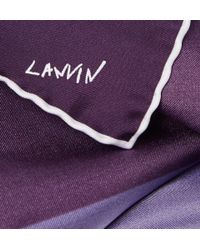 Lanvin - Purple Four-Tone Silk Pocket Square for Men - Lyst