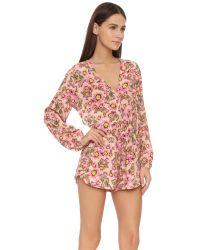 Tori Praver Swimwear - Pink Cozumel Romper - Lyst