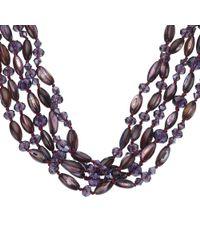 John Lewis - Fine Bead Purple Necklace - Lyst