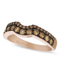 Le Vian | Brown Chocolate Diamond Wedding Band (5/8 Ct. T.w.) In 14k Rose Gold | Lyst
