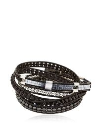 Colana | Black Limited Edition Leather Wrap Bracelet | Lyst