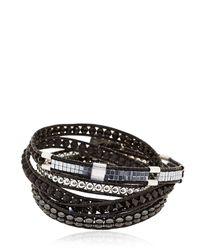 Colana - Black Limited Edition Leather Wrap Bracelet - Lyst