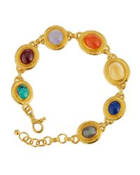 Gurhan | Multicolor 24k Multi-gemstone Station Muse Bracelet | Lyst