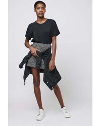 TOPSHOP - Gray Boucle Mini Skirt - Lyst