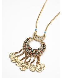 Free People - Metallic Coin Drop Pendant - Lyst