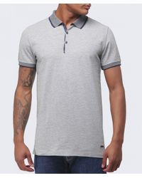 BOSS Orange | Gray Pejo Contrast Polo Shirt for Men | Lyst