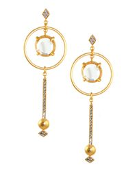 Gerard Yosca | Metallic Mina Earrings | Lyst