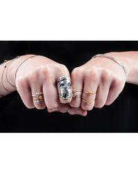 Lee Renee - Metallic Tiny Voodoo Orunla Ring – Gold Vermeil - Lyst