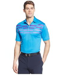 Under Armour | Blue Birdie Striped Performance Golf Polo for Men | Lyst
