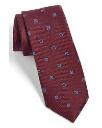 Calibrate - Purple Woven Silk Tie for Men - Lyst