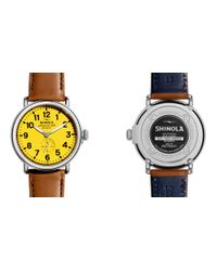 Shinola | Yellow The Runwell 47mm for Men | Lyst
