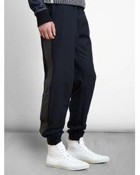 James Long - Blue Patterned Denim Sweatpants for Men - Lyst