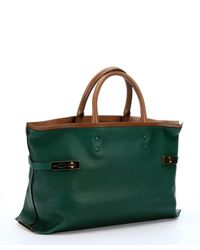 Chloé - Racing Green Leather 'Charlotte' Large Tote Bag - Lyst
