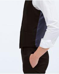 Zara   Black Suit Waistcoat for Men   Lyst