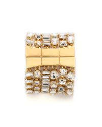 kate spade new york - Metallic Vegas Jewels Bracelet - Clear - Lyst