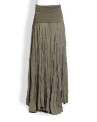 Donna Karan - Gray Silk & Jersey Broomstick Skirt - Lyst