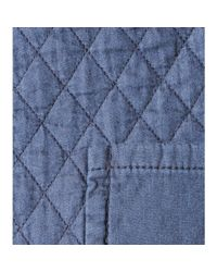 See By Chloé - Blue Quilted Cotton Miniskirt - Lyst